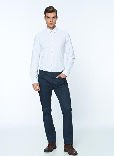 George Hogg Uzun Kollu Gömlek Beyaz